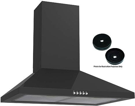 cookology CMH605BK Extractor de 60 cm de cocina, campana en negro, filtros de carbón activado incluidos: Amazon.es: Grandes electrodomésticos