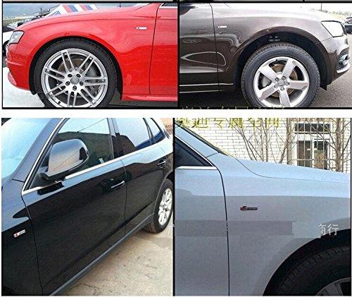 Yoaoo-oem/® 4pcs Auto Tuning OEM Metal Original Germany Metal Sline Emblem Decal Griglia Badge for Audi A4 A6 A8 Q5 Q7 Tt Logo Silver