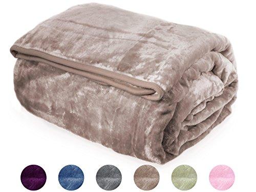 (Crover Archangel Ultra Silky Soft Heavy Duty Quality Korean Mink Reversible Cloud Solid Blanket Queen SIze 83