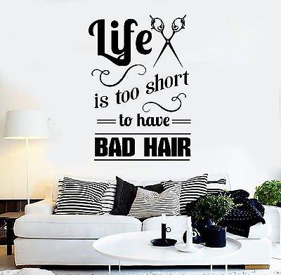 Vinyl Wall Decal Hair Salon Quote Hairdresser Stylist ...