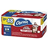 Charmin Ultra Strong Toilet Paper, 24 Double Rolls (Equal to 48 Regular Rolls)
