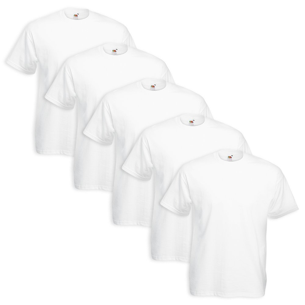 Set 5 T-Shirt Fruit Of The Loom ( 5 Pezzi Bianco - XL - 6) Coats&Coats T-ShirtFruitX_0_3