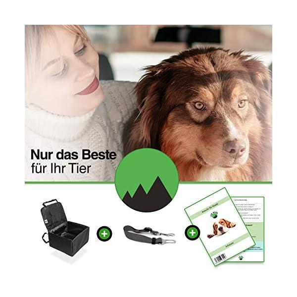 51UWHkJHTnL Jon Berg Extra Stabiler Hunde Autositz - Hundesitz für kleine und mittlere Hunde mit Leine - wasserdichter Hundeautositz…