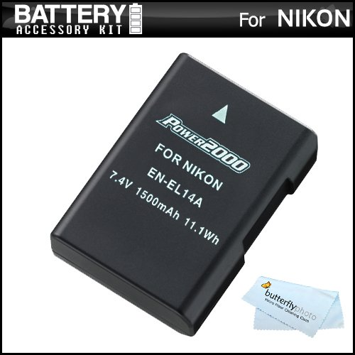 Replacement EN-EL14a, EN-EL14 High Capacity Li-ion Battery For Nikon D5600, D5500, D5300, D3400, D3300, D5100, D5200, D3100, Nikon Df, D3200 Digital DSLR - Fully Decoded! (Nikon EN-EL14a Replacement) - Capacity Lithium Ion Battery
