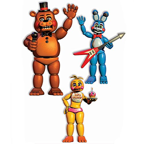 Forum Novelties Nights at Freddy's Scary Cutouts Decorations (3 Pieces - 20