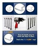 WallPeg 75-pk White Pegboard Hooks – 25 J, 25 L, & 25 Jumbo Flex-Lock Peg Hooks AM-75-W
