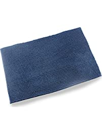 Wendana Bathroom Rugs Navy Blue Bath Mats Non Slip Fluffy Microfiber Shag Rug Water Absorbing Floor
