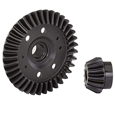Traxxas Ring gear, differential/ pinion gear, differential (machined, spiral cut) (rear): Toys & Games