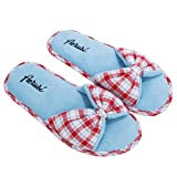 usa made slippers - Aerusi's Aerusi Red Plaid Sky Blue Cozy Soft Bedroom Warm Indoor Slippers (9 US Size)