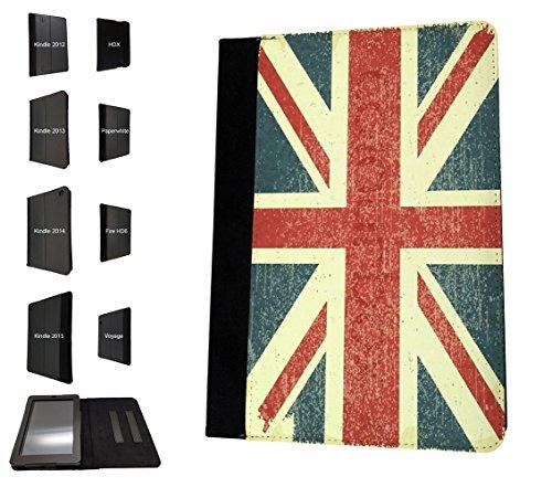 002985 - Vintage Shabby Union Jack British Flag Design Amazon Kindle Voyage 6