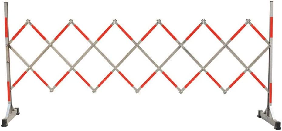 伸縮 アコーディオンフェンス 取り外し可能な折りたたみフェンステレスコピック安全柵の保護の警告フェンス 片開き 門 扉 門扉 (Color : Red, Size : 1.2x2.5M)