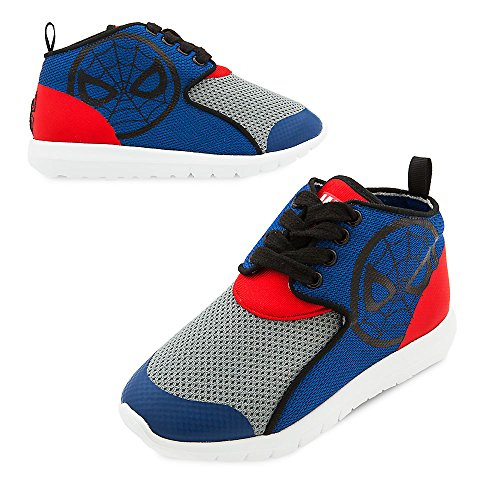 Marvel Spider-Man Sneakers for Kids Size 8 Blue -