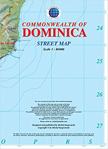 Dominica Street Map with Index 140 000 Kasprowski Publisher