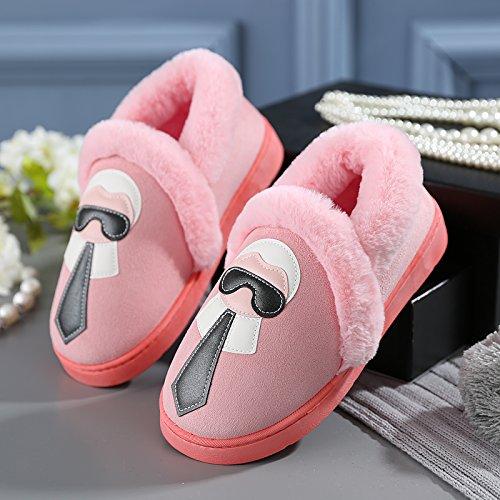 Y-Hui gli amanti della femmina inverno pantofole di cotone borsa con scarpe maschili Home Home arredo caldo pantofole spessa alla fine dell'inverno,40-41 (Fit per 39-40 piedi),luce rosa