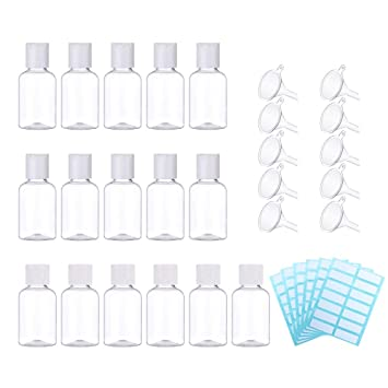 Amazon.com: SelfTek 16pcs transparente, 1.7 fl oz plástico ...