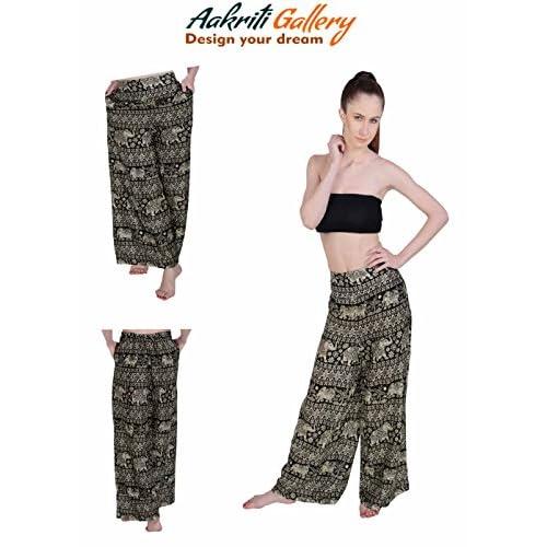 2518d0a1d2 well-wreapped Thai Rayon Plazzo Pants Women Hippie Boho Harem Gypsy Aladdin  Trouser Aakriti Gallery
