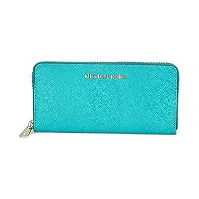 237b1d41aa19 Michael Kors Leather Continental Wallet - Tile Blue: Handbags: Amazon.com