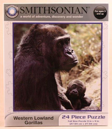 - Smithsonian Western Lowland Gorillas 24-piece Jigsaw Puzzle