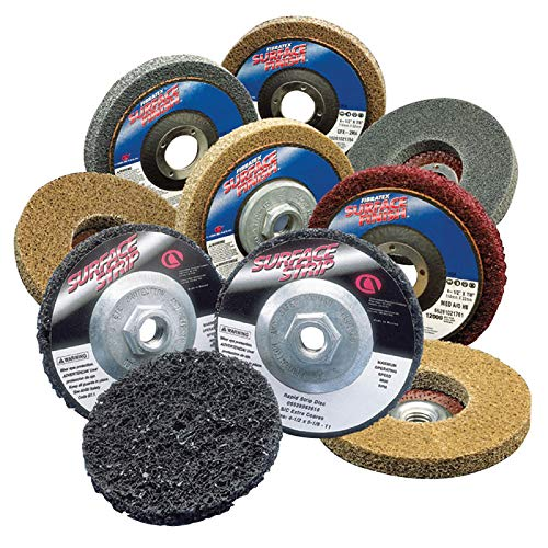 Depressed Center Wheels 13 Pack Extra Coarse S//C Silicon Carbide 12000 RPM 4.5 X 7//8