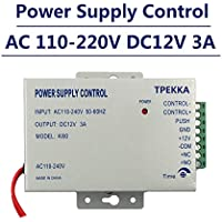 TPEKKA AC 110-240V to DC12v 3A Power Supply for Electric Door Access Control System