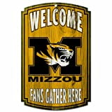 NCAA Missouri Tigers Wood Sign