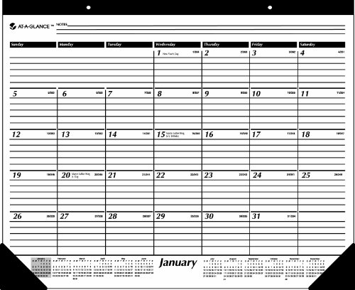 (AT-A-GLANCE 2014 Monthly Desk Pad, Black and White, 22 x 17 Inches (SK24-00))