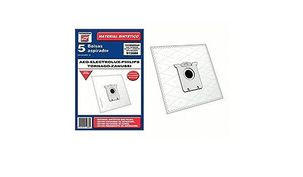 Bolsa sintetica aspirador AEG Electrolux Philips Taurus Zanussi 5 UNIDADES 915688: Amazon.es: Hogar