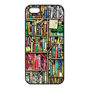bookshelf style High Qulity Customized Cell Phone Case for iPhone 5,5S, bookshelf style iPhone 5,5S Cover Case