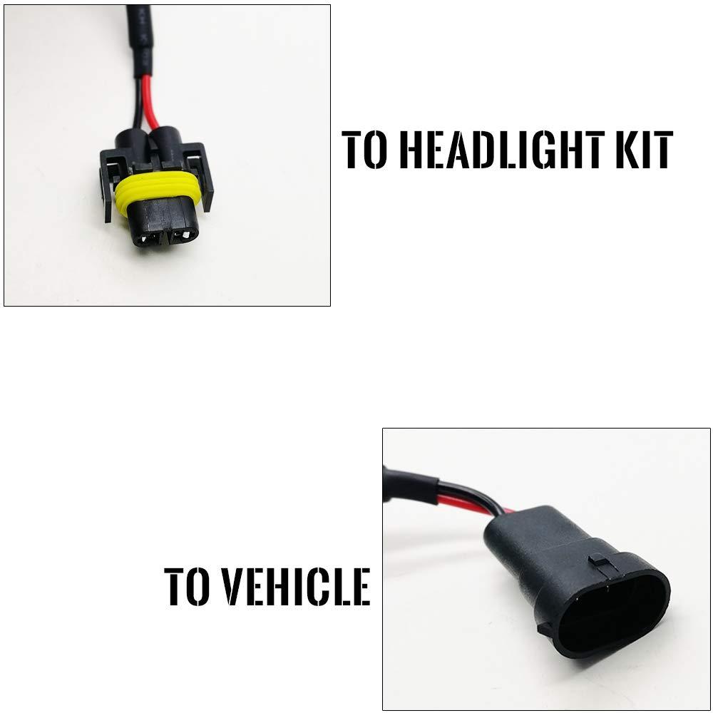 KOOMTOOM Led Resistor 9004 HB1 Canbus Decoder 9007 HB5 Anti flicker Harness Headlight Bulb Light Warning Error EMC Canceller Decoder For Dodge RAM Chrysler