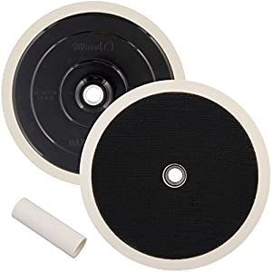 "TCP Global Brand 7"" Grip Mount Hook & Loop Universal Polisher Buffer Backing Plate Pad - Attach Foam Wool Buff Polishing Pads"