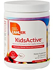 Zahler KidsActive, Kids Concentration Formula Powder, All Natural Children's Supplement Supporting Focus and Attention, Certified Kosher, 30 Servings Fruit Punch Flavored Powder