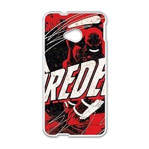HTC One M7 Cell Phone Case White Daredevil Grunge OJ661535
