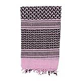 Mil-Spec Adventure Gear Plus MSA08-3065062000 Woven Coalition Desert Scarves, Pink/Black