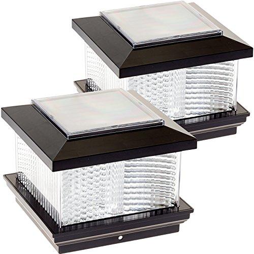 (2 Pack) GreenLighting Solar LED Post Cap Light for 5
