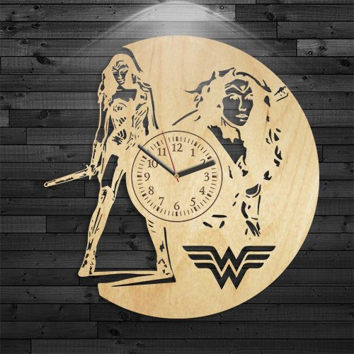 Superwoman Clock, Superwoman Wood Clock, DC Comics Birthday Gift, Gift For Boy, Movie Wooden Clock, Justice League Wooden Clock, Wall Clock Vintage, Gift For Girl, Wall Clock -