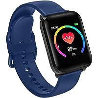 BWatch Reloj Inteligente 42mm, Pantalla HD, Modo Fitness, Deporte, Notificaciones, Ritmo Cardiaco, iOS/Android IP68 (Azul)