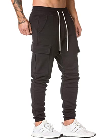 Kefitevd Jogger Pants For Men Slim Fit Workout Pants Running Training Sweatpants With Pockets by Kefitevd