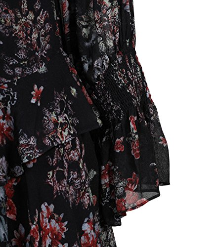 IRO Damen Kleid Averen mit Blütenprint in Schwarz Bla01 30qBiR