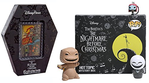 Movie Funko Pop! Funko Pop! Exclusive Nightmare Before Christmas Mystery Box + Playing Card Set Disney Park Exclusive / Jack Skellington Dorbz Sally Keychain / Oogie Boogie With Bugs Pop! Figure