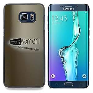 "Qstar Arte & diseño plástico duro Fundas Cover Cubre Hard Case Cover para Samsung Galaxy S6 Edge Plus / S6 Edge+ G928 (Mujer de trabajo Poder Derechos potentes"")"