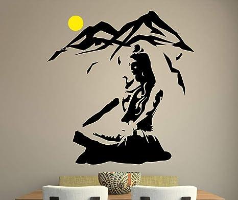 Wall Art Vinyl Sticker Room Decal Mural Decor Shiva God Tiger Yoga Hindu bo2327
