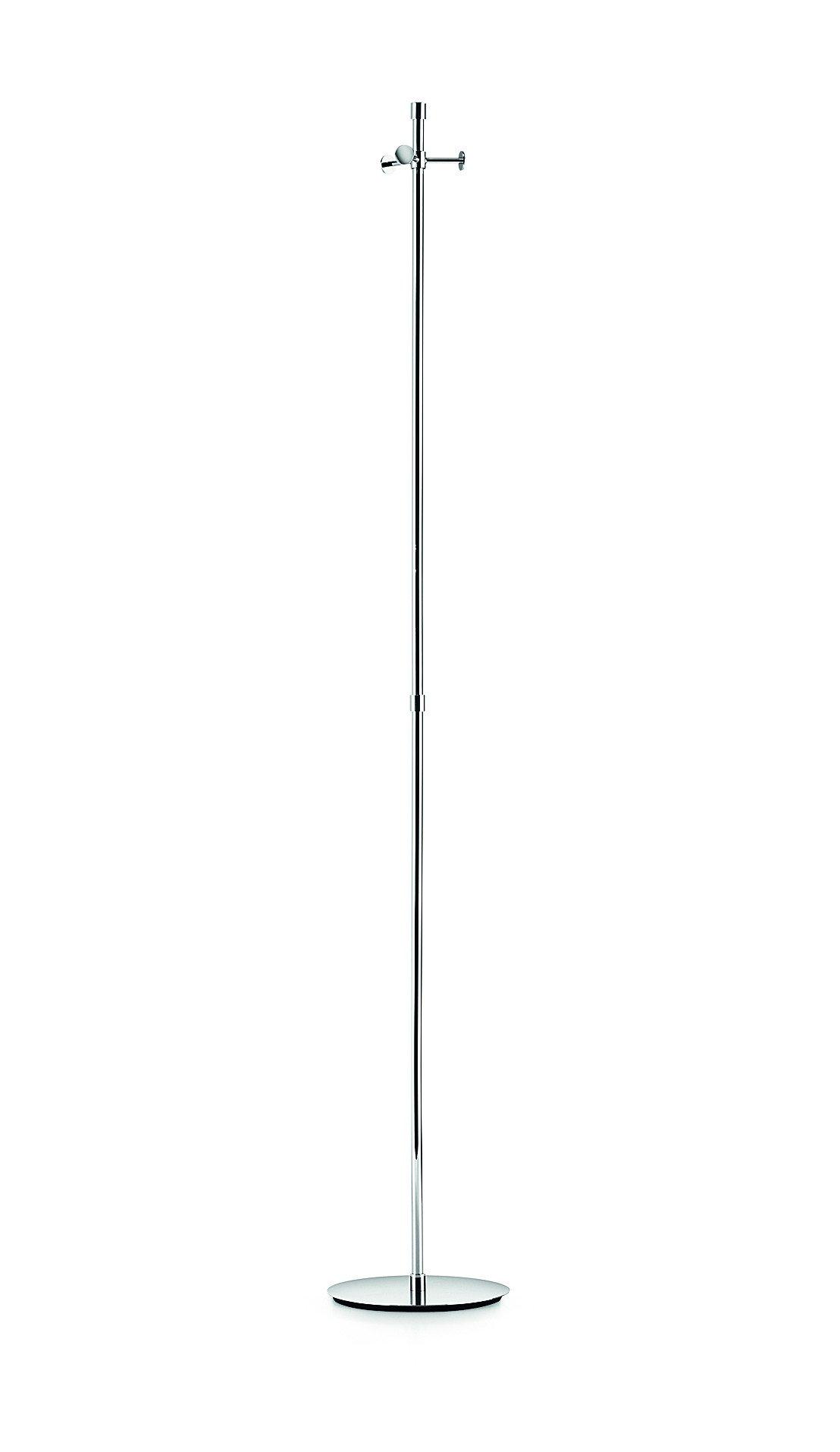 LB Brass Metal Coat Rack Stand Tree Hanger Holder W/ 3 Hooks Polished Chrome