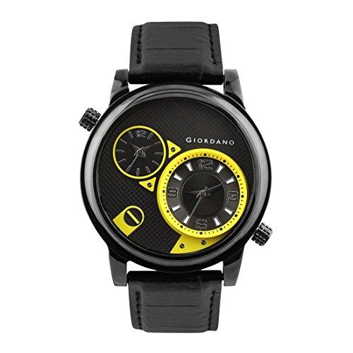 Giordano Analog Multi-Colour Dial Men's Watch - 60058 BLK/YE