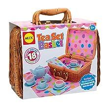ALEX Toys - Pretend & Play Tea Set Basket 709W