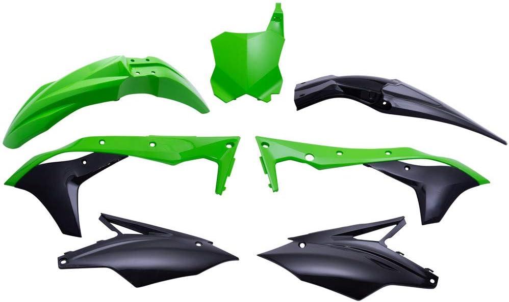 Motodak Kit De plástico POLISPORT Verde/Negro Kawasaki KX250F