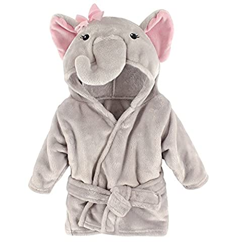 Hudson Baby Animal Plush Bathrobe, Pretty Elephant, 0-9 Months (Animal Baby Blankets For Girls)