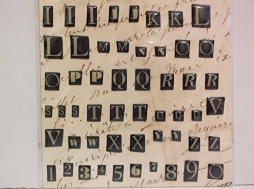 (K & Co Life's Journey DomedRandom Alphabet Reversed Clearly Yours Epoxy)