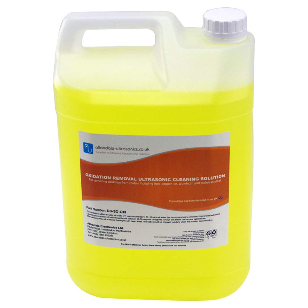Oxidation and Rust Removal Ultrasonic Cleaner Solution - 5 Litre
