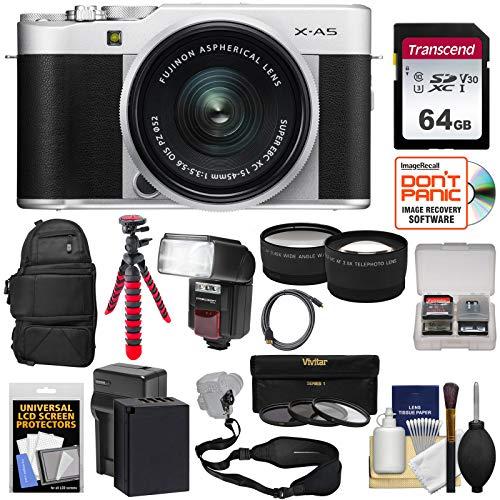 Fujifilm X-A5 Wi-Fi Digital Camera & 15-45mm XC Lens  with 6