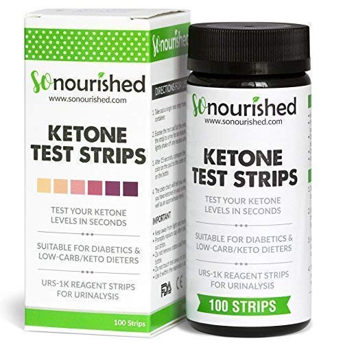 Urine Ketone Strips - Suitable for Diabetics and Low Carb Dieters - Ketosis Strips & Diabetic Test Strips. Ketosis Test with Keto Strips Kit Takes Only 15 Seconds! 100 Keto Sticks product image